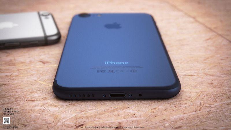 iPhone 7 concept deep blue