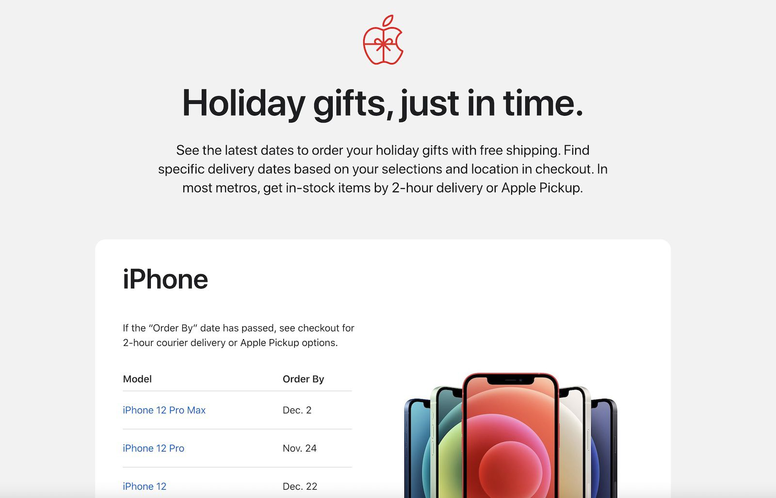 photo of Apple Lists Deadlines for Ordering Holiday Gifts, Offers Discounted Same-Day Delivery on In-Store Items image