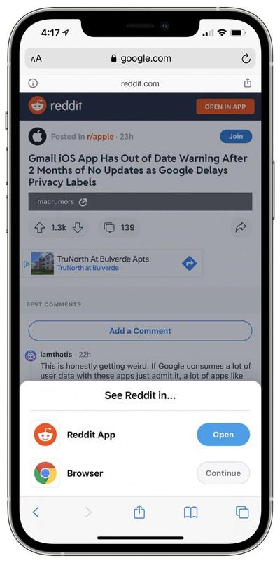 reddit open in app