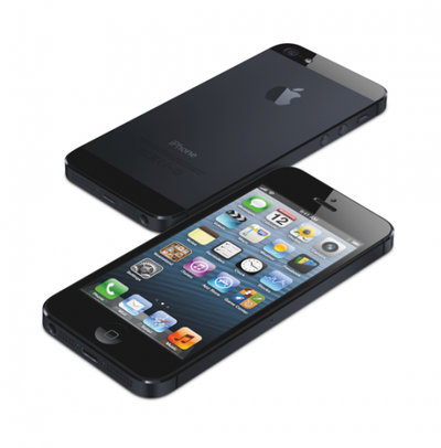 iPhone 5 34Hi Stagger FrontBack Black PRINT
