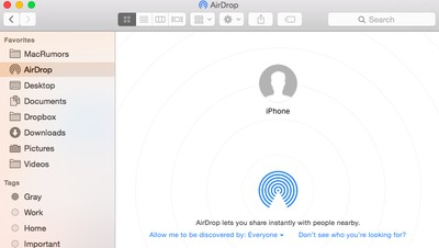 how to sync iPhone contacts to Mac using airdrop