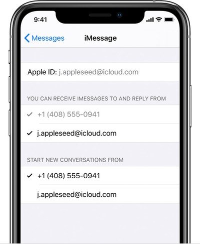 ios13 iphone xs settings message imessage send receive