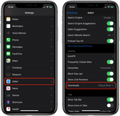 how to customize when safari download manager clears ios 1