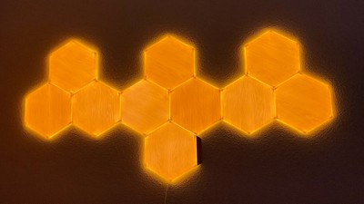 nanoleaf yellow light wall