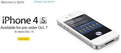 sprint iphone 4s banner