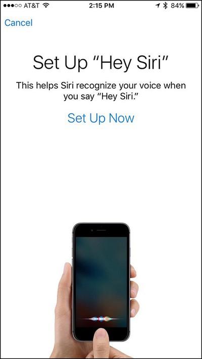 iphone hey siri set up