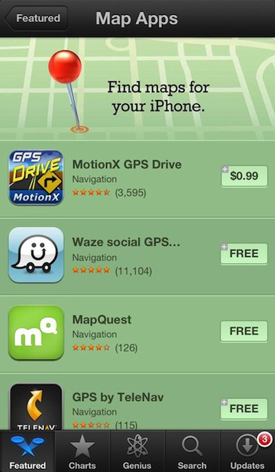 iphone alternative maps