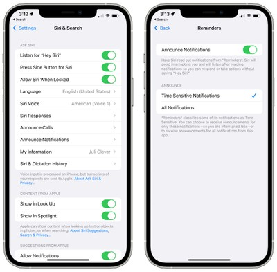 ios 15 reminders announce notifications