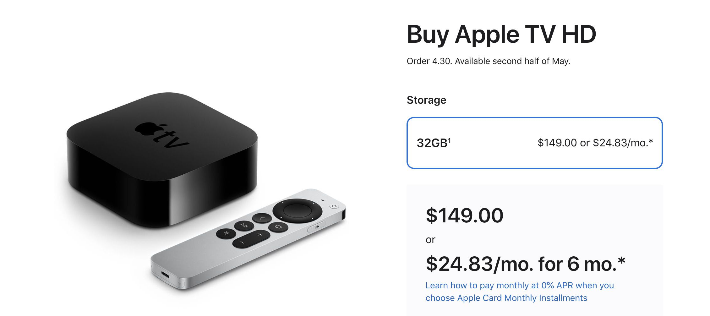 photo of Apple to Sell Apple TV HD Bundled With New Siri Remote for $149 image