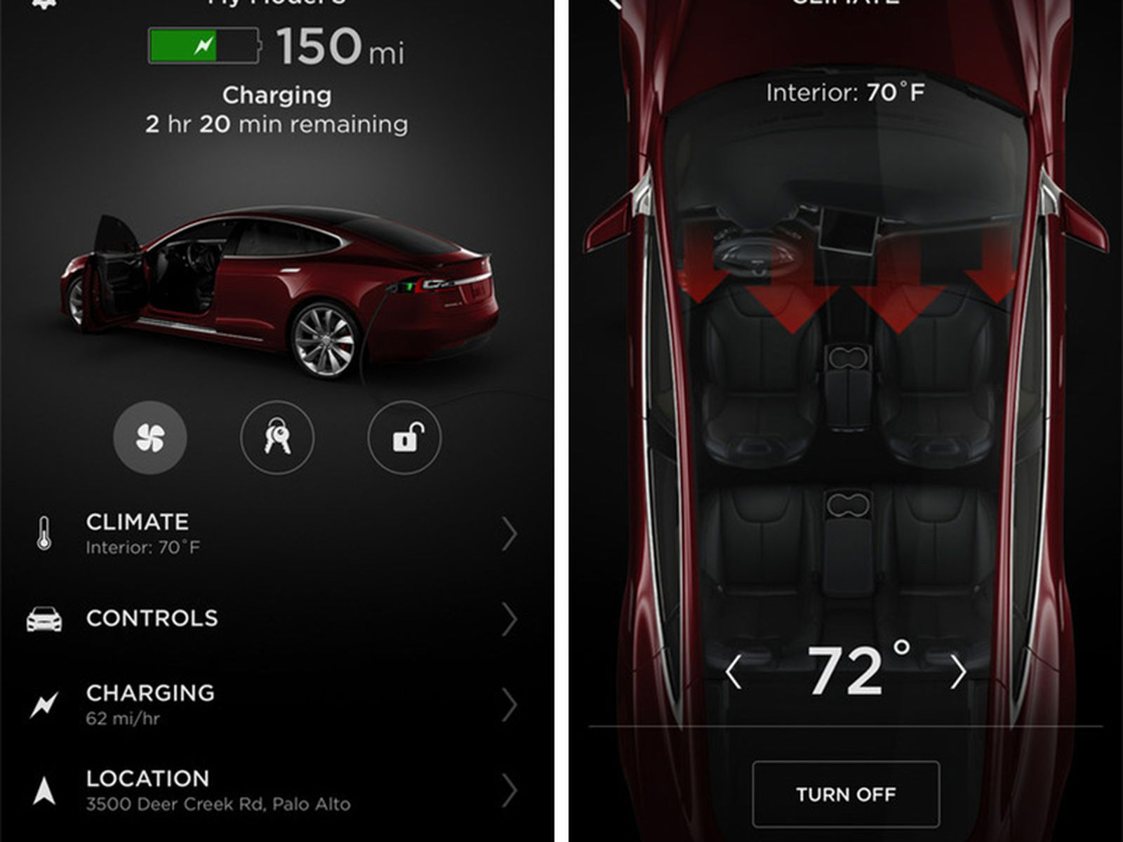 Tesla Releases Completely Redesigned Iphone App With Touch Id Support Macrumors