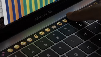 touch bar close up