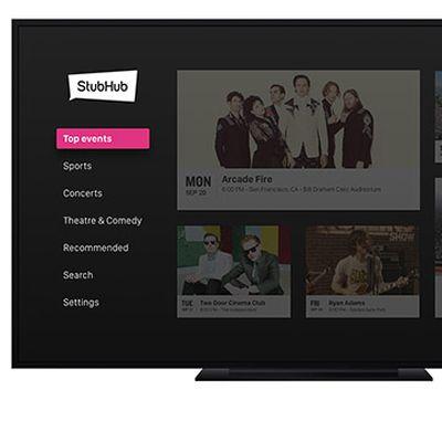 stubhub apple tv 2