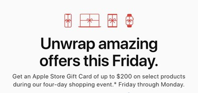 apple black friday shopping event 2019