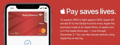 apple pay red donations 2019