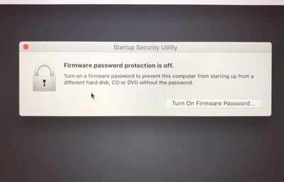 set a firmware password on your mac 3