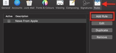 Mac VIP email rule 1