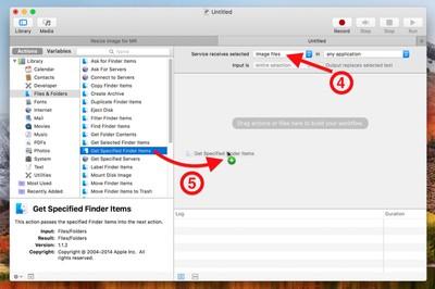 resize image service automator image files