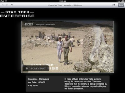 111000 star trek enterprise ipad