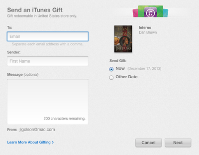 iBooks Gifting