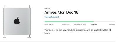 mac pro shipped tracking