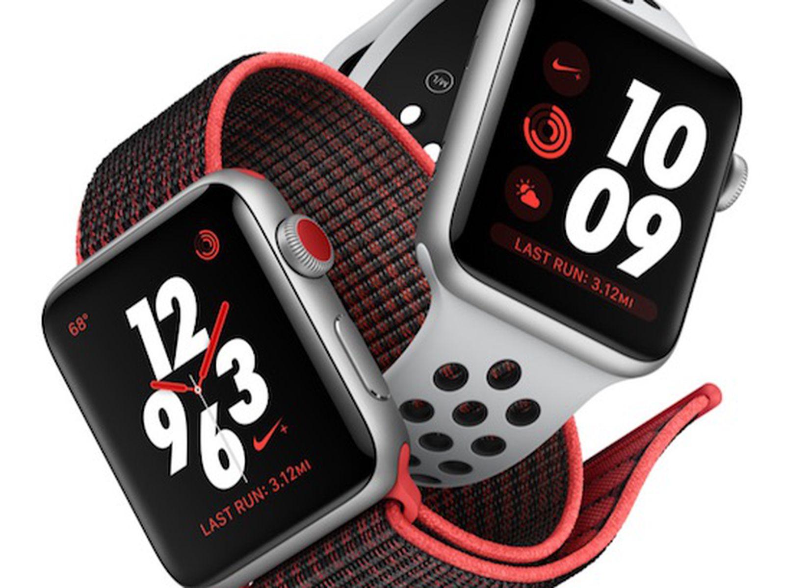 gesto Brillante Sabor  Apple Watch Series 3's Nike+ Models Have Slightly Later October 5 Launch  Date - MacRumors