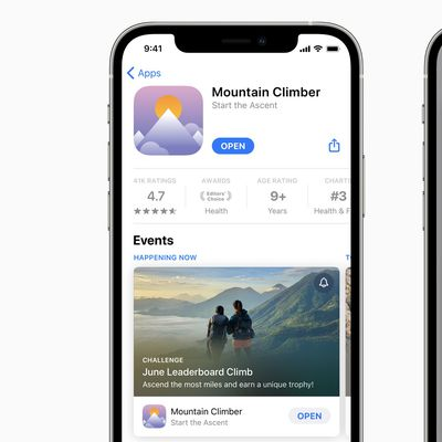 app store in app events
