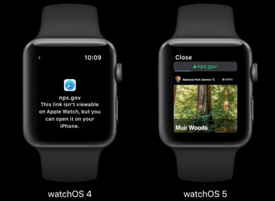watchos 5 rich html content