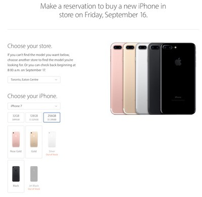 iphone 7 reserve and pick up apple
