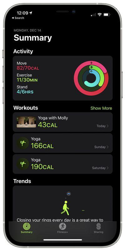 apple fitness plus workout list