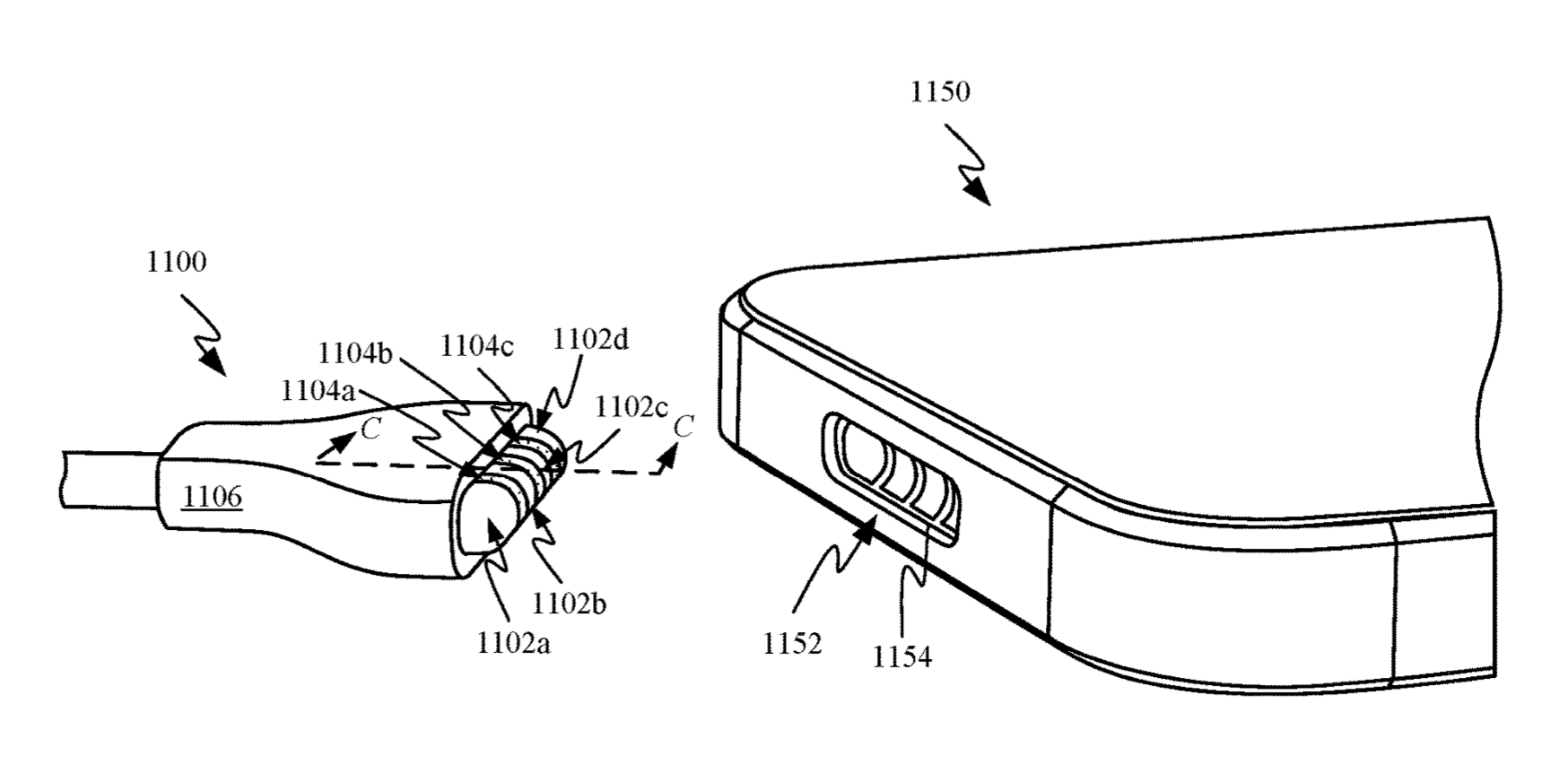 photo of MagSafe Charging Port for iPhone Appears in Apple Patent image