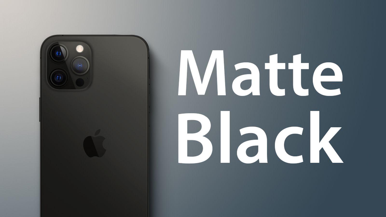 iPhone 13 to Come in Matte Black - MacRumors