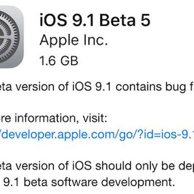 ios 9 1 beta 5
