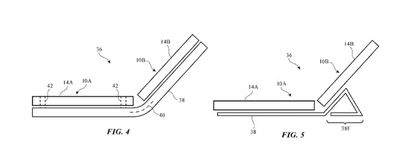 apple patent bendable device separate displays