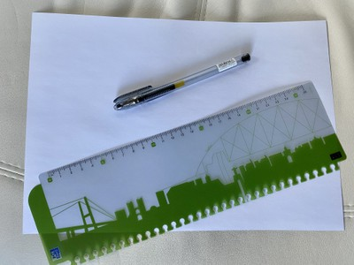 paper pen ruler solo loop size