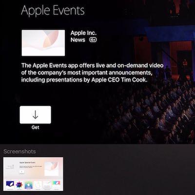 apple events tvos store