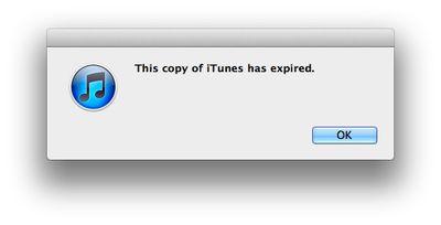 itunes beta expired