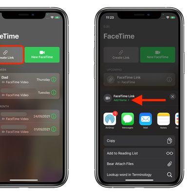 create facetime link