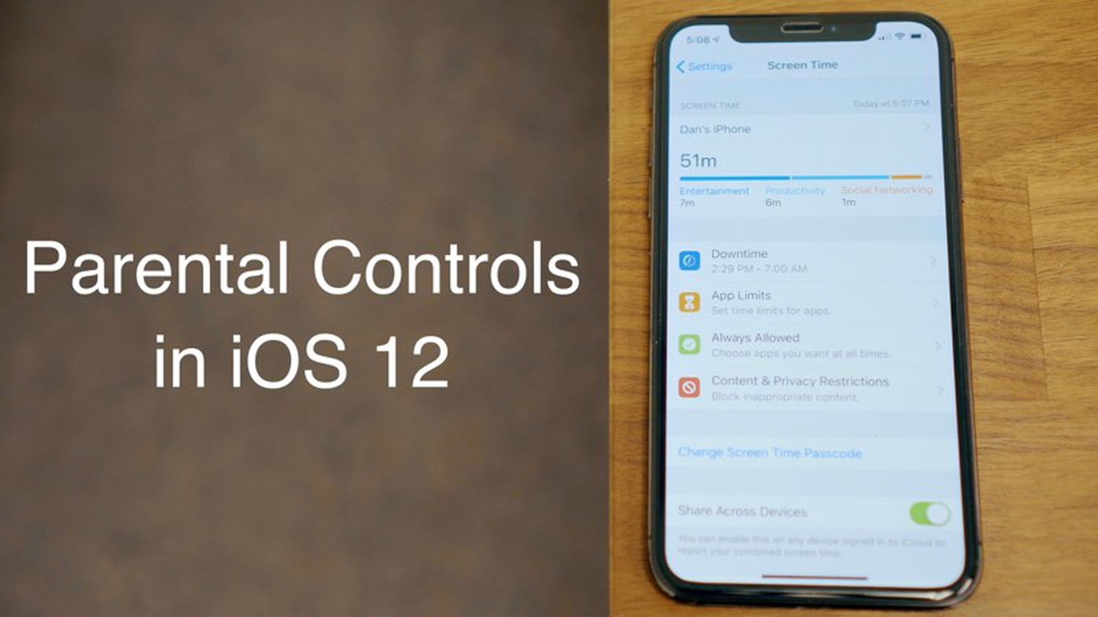 How To Access And Set Up Parental Controls In Ios 12 Macrumors