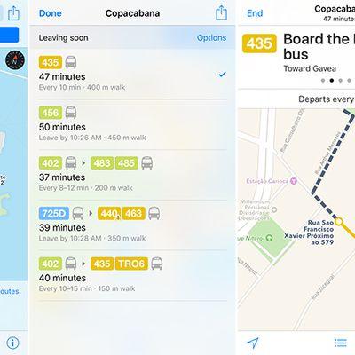 Apple maps transit rio de janeiro