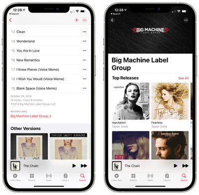 recording label info apple music 14 5