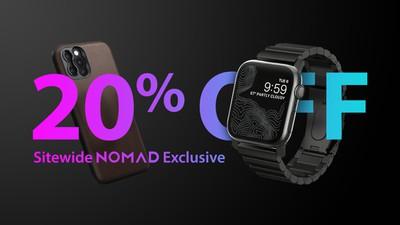nomad 20 percent off exlusive fixed