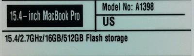 retina macbook pro label