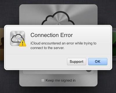 icloud connection error