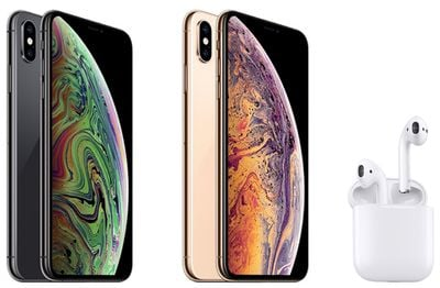 iphone xs and airpods