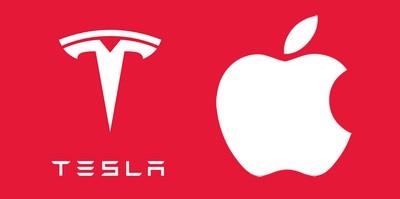 tesla apple logos