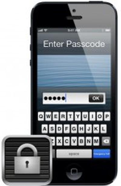 iphone passcode lock icon