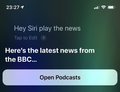 how to get siri to play a news brief