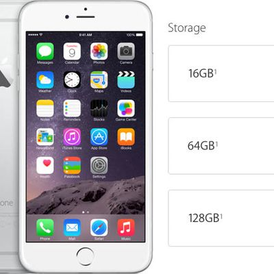 iPhone 6 storage