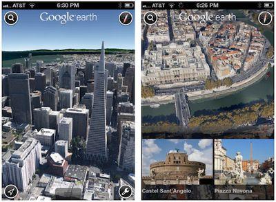 google earth iphone 3d