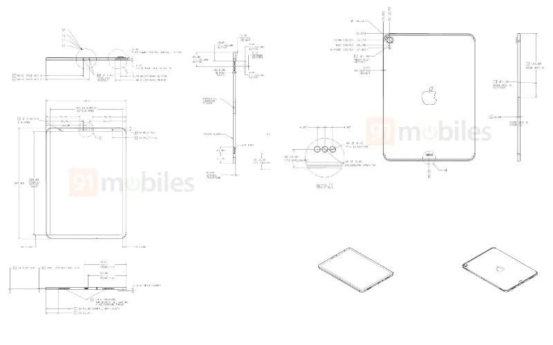 Gambar Desain Skematik iPad Air 4 Muncul di Dunia Maya